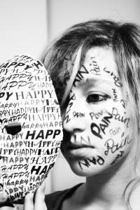 Depression Writing Face